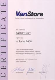 certifikace vanstore